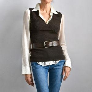 DOLCE &GABBANA 100% Pure Cashmere V Neck Vest IT40